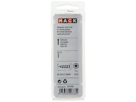 Mack Vis à tôle PZ2 32x4,8 mm inox 7 pièces