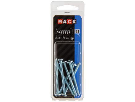 Mack Vis à tôle PZ2 50x4,8 mm zingué 7 pièces