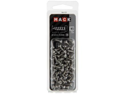 Mack Vis à tôle PZ2 9,5x3,5 mm inox 70 pièces