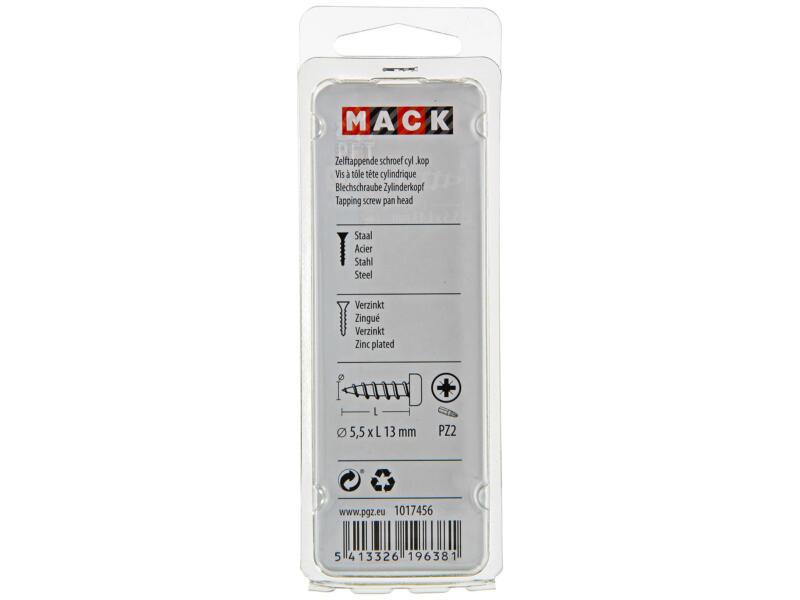 Mack Vis à tôle PZ3 13x5,5 mm zingué 11 pièces