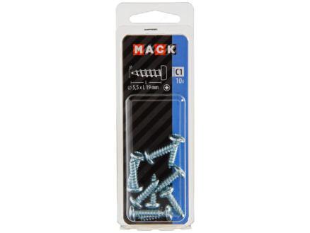 Mack Vis à tôle PZ3 19x5,5 mm zingué 10 pièces