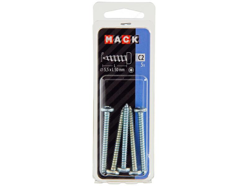 Mack Vis à tôle PZ3 50x5,5 mm zingué 5 pièces