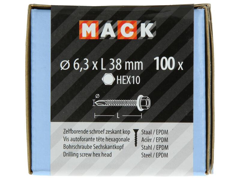 Mack Vis autoforantes H10 38x6,3 mm zingué 100 pièces