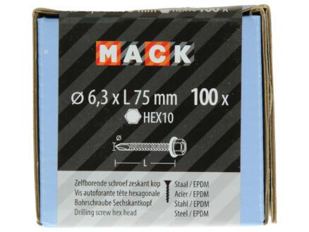 Mack Vis autoforantes H10 75x6,3 mm zingué 100 pièces