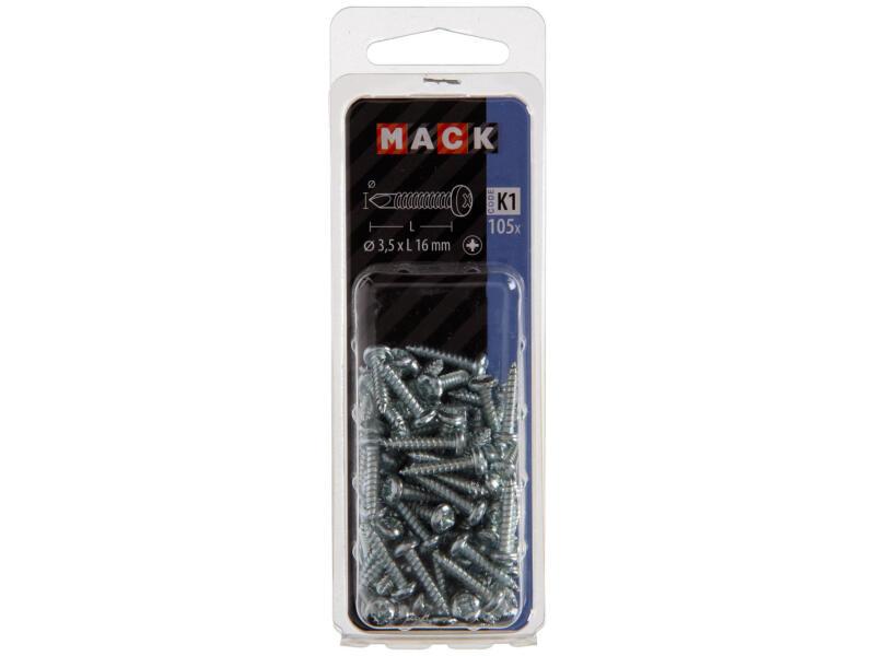 Mack Vis autoforantes PZ2 16x3,5 mm zingué 105 pièces