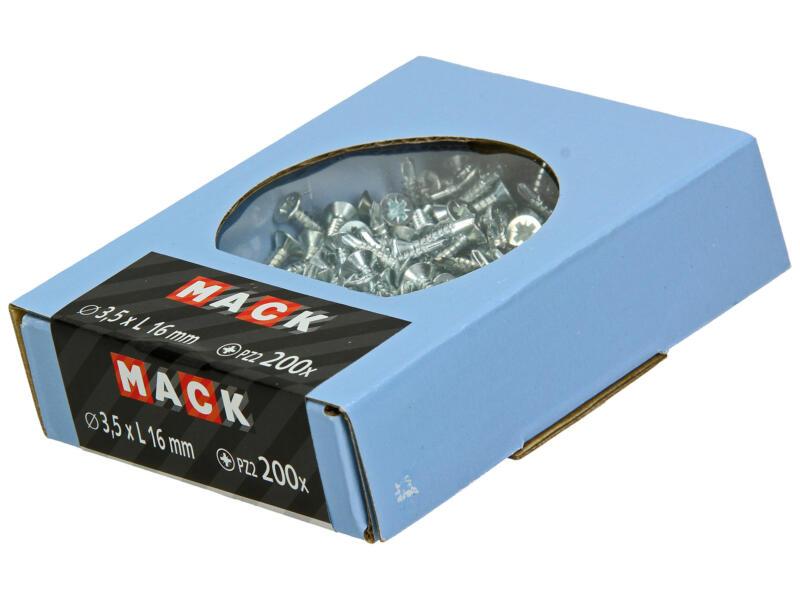 Mack Vis autoforantes PZ2 16x3,5 mm zingué 200 pièces