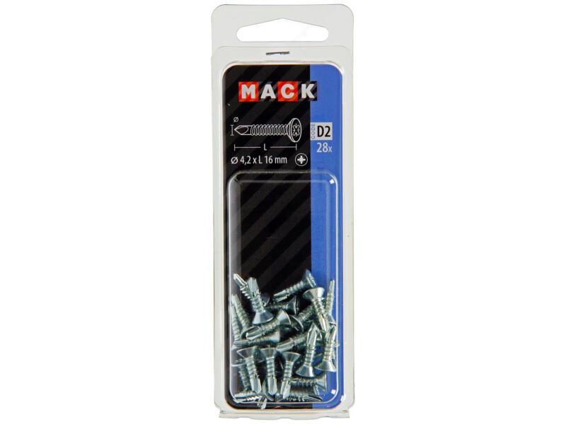 Mack Vis autoforantes PZ2 16x4,2 mm zingué 28 pièces