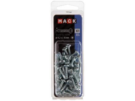 Mack Vis autoforantes PZ2 16x4,2 mm zingué 85 pièces