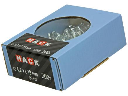 Mack Vis autoforantes PZ2 19x4,2 mm zingué 200 pièces