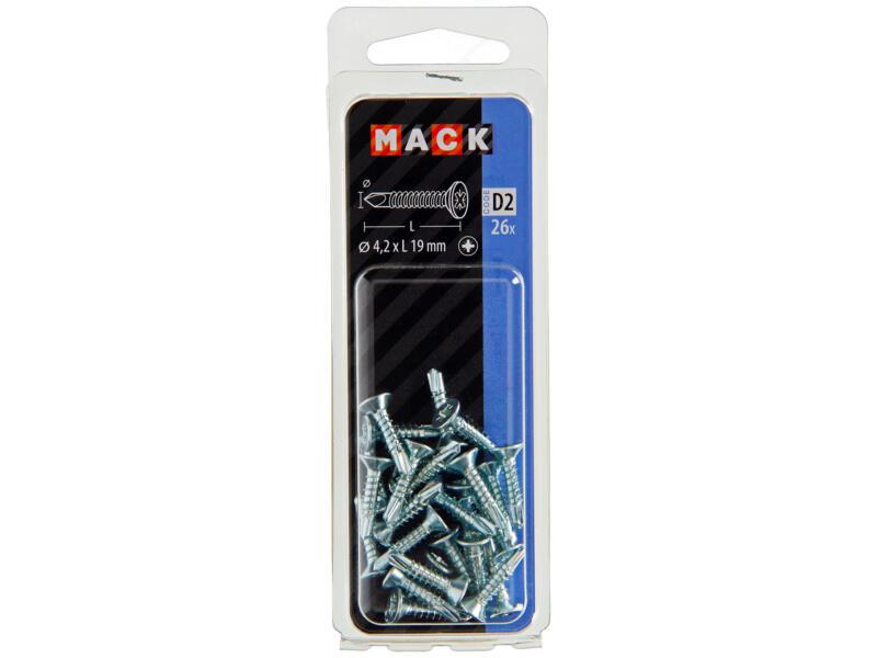 Mack Vis autoforantes PZ2 19x4,2 mm zingué 26 pièces