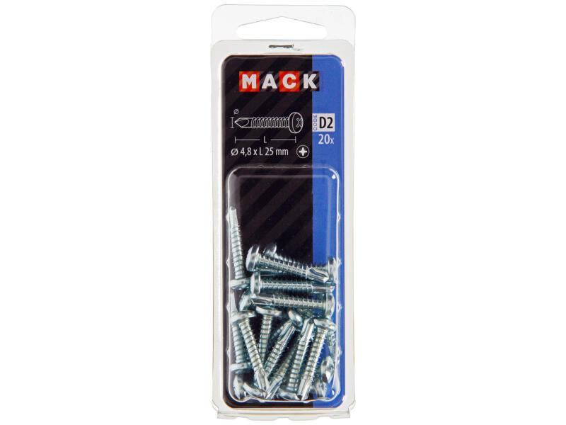 Mack Vis autoforantes PZ2 25x4,8 mm zingué 20 pièces