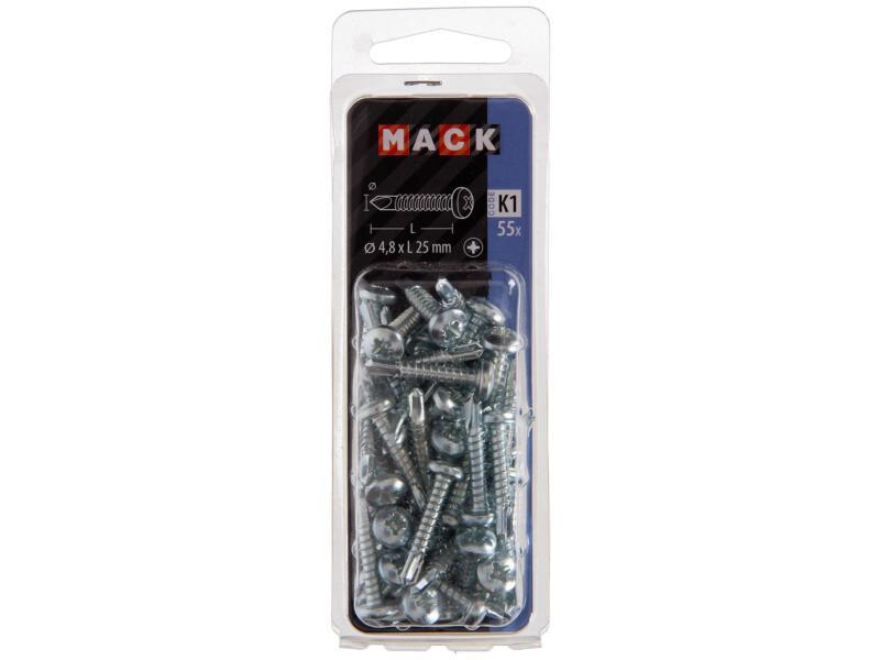 Mack Vis autoforantes PZ2 25x4,8 mm zingué 55 pièces