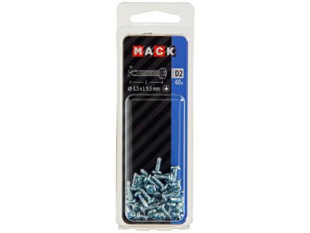 Mack Vis autoforantes PZ2 9,5x3,5 mm zingué 40 pièces