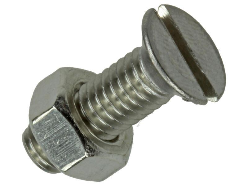 Sam Vis métal avec écrou 20x6 mm inox 5 pièces