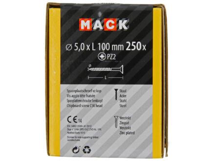 Mack Vis pour aggloméré PZ2 100x5 mm bichromate 250 pièces
