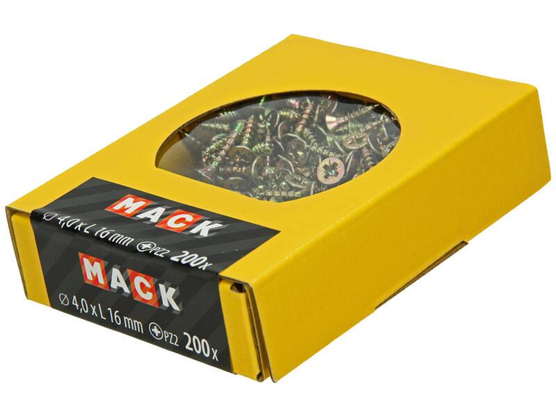 Mack Vis pour aggloméré PZ2 16x4 mm bichromate 200 pièces