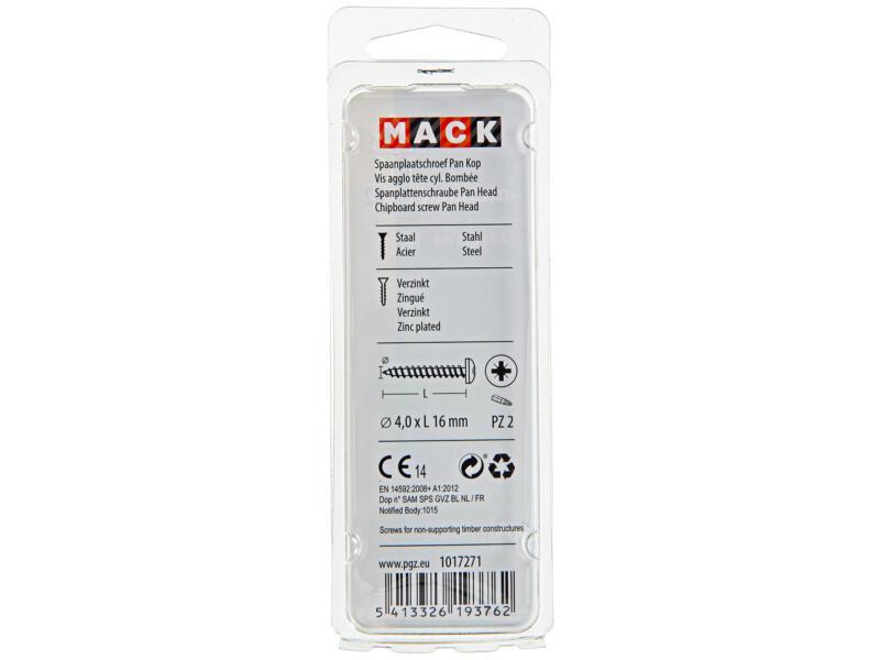 Mack Vis pour aggloméré PZ2 16x4 mm bichromate 35 pièces