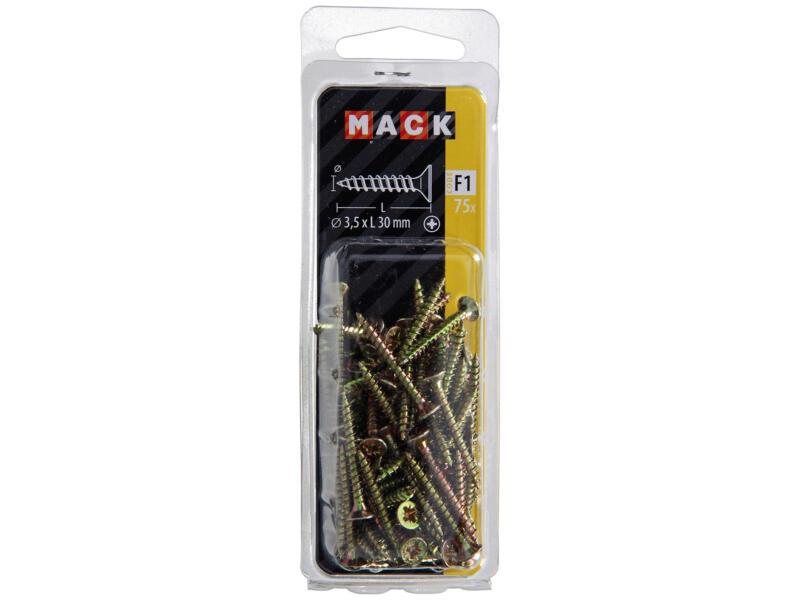 Mack Vis pour aggloméré PZ2 30x3,5 mm bichromate 75 pièces