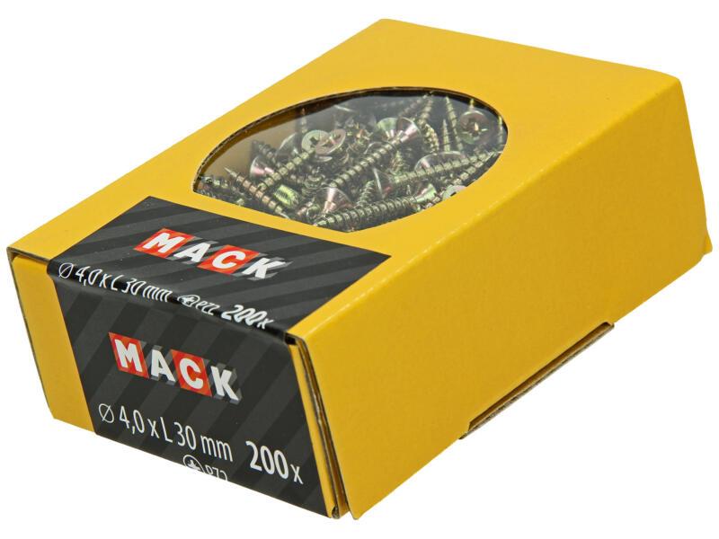 Mack Vis pour aggloméré PZ2 30x4 mm bichromate 200 pièces