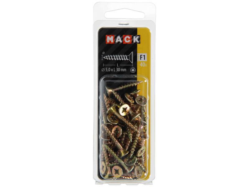 Mack Vis pour aggloméré PZ2 30x5 mm bichromate 40 pièces
