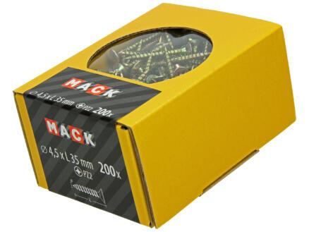Mack Vis pour aggloméré PZ2 35x4,5 mm bichromate 200 pièces