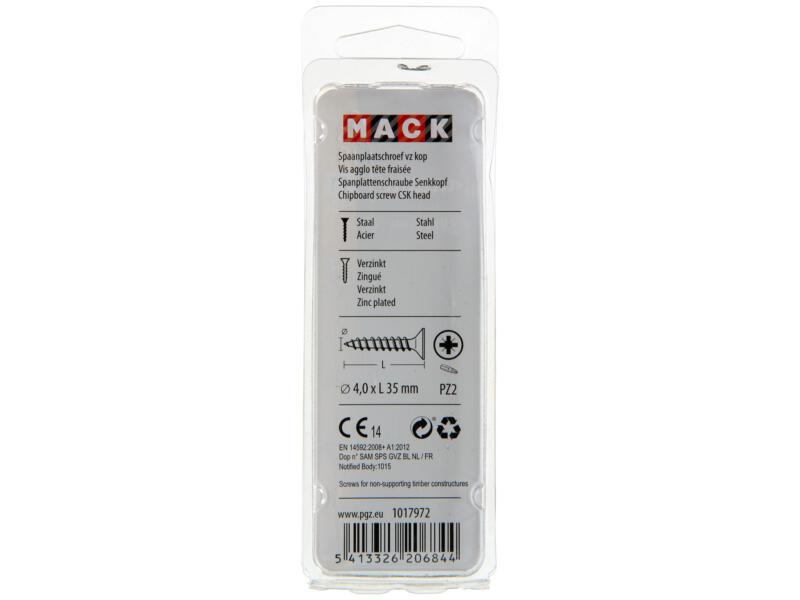 Mack Vis pour aggloméré PZ2 35x4 mm bichromate 50 pièces