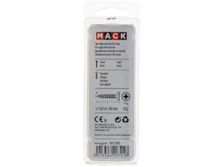 Mack Vis pour aggloméré PZ2 40x5 mm bichromate 30 pièces
