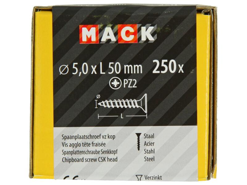 Mack Vis pour aggloméré PZ2 50x5 mm bichromate 250 pièces