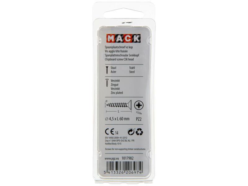 Mack Vis pour aggloméré PZ2 60x4,5 mm bichromate 25 pièces