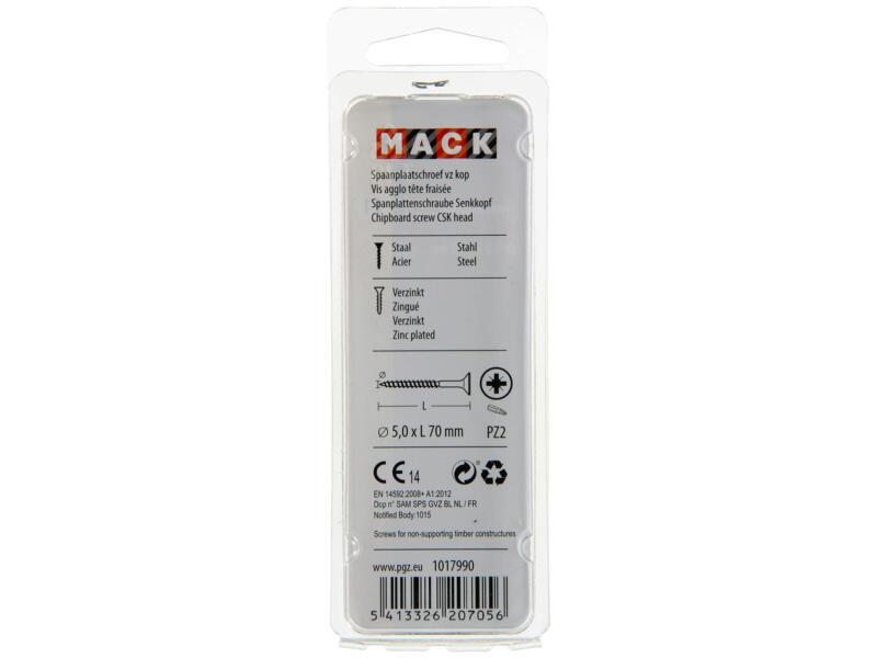 Mack Vis pour aggloméré PZ2 70x5 mm bichromate 20 pièces