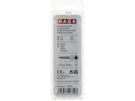 Mack Vis pour aggloméré TX15 20x3,5 mm bichromate 100 pièces