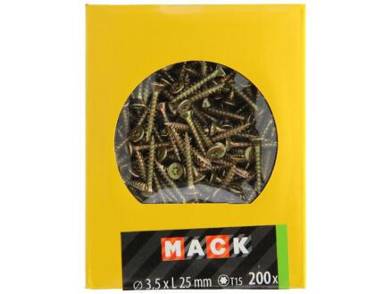 Mack Vis pour aggloméré TX15 25x3,5 mm bichromate 200 pièces