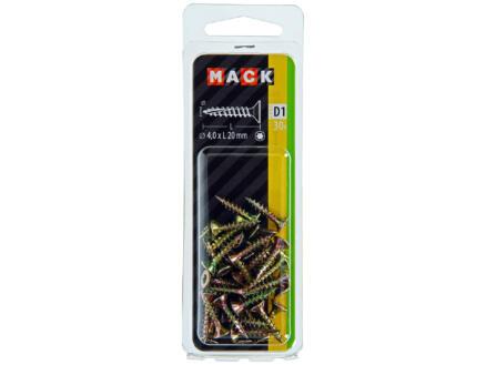 Mack Vis pour aggloméré TX20 20x4 mm bichromate 30 pièces