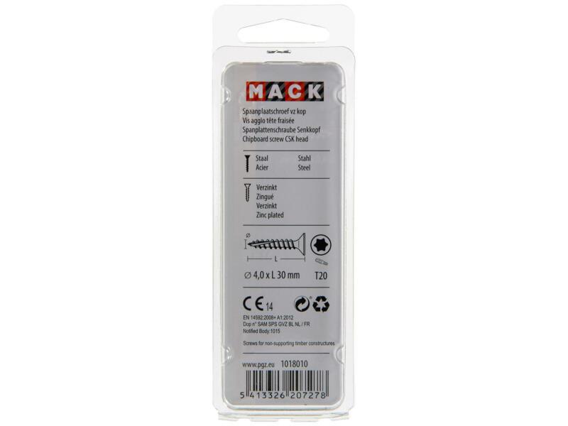 Mack Vis pour aggloméré TX20 30x4 mm bichromate 65 pièces