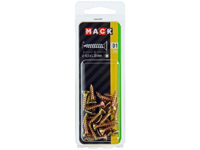 Mack Vis pour aggloméré TX25 20x4,5 mm bichromate 24 pièces