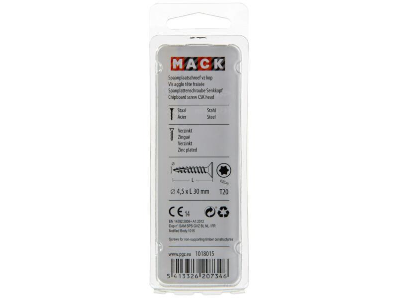 Mack Vis pour aggloméré TX25 30x4,5 mm bichromate 45 pièces