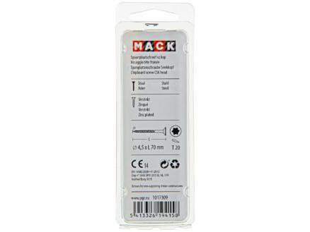 Mack Vis pour aggloméré TX25 70x4,5 mm bichromate 9 pièces