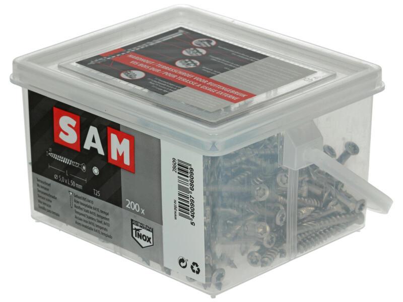 Sam Vis pour terrasse TX25 50x5 mm inox 200 pièces