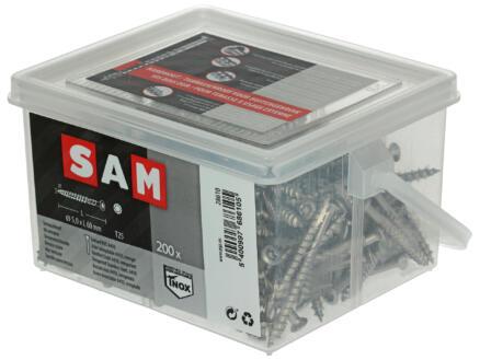 Sam Vis pour terrasse TX25 60x5 mm inox 200 pièces