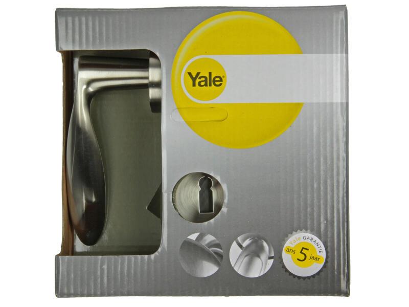 Yale Vita BB poignée de porte avec rosaces 51mm set complet nickelé mat