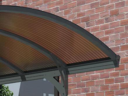 Scala Vitoria carport 290x500 cm metaal brons/grijs