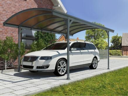 Scala Vitoria carport 290x500 cm métal bronze/gris