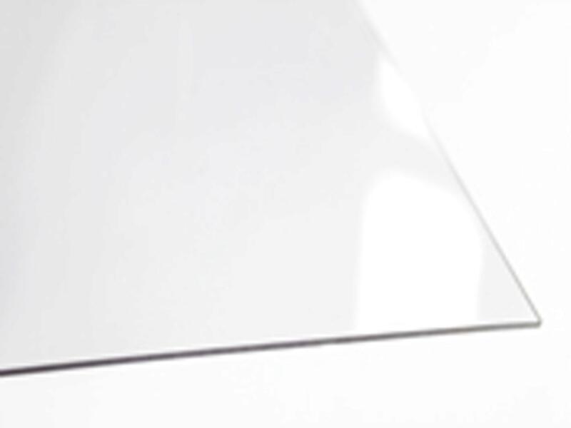 Scala Vlakke plaat 100x50 cm 5mm polystyreen kristal