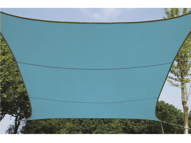Voile d'ombrage 500x500 cm bleu