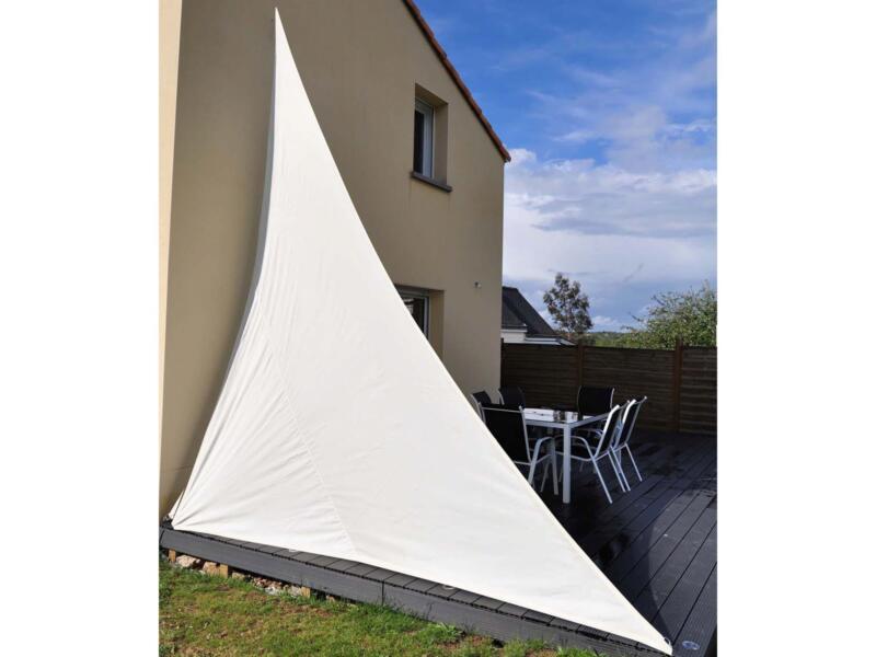 Voile d'ombrage triangulaire 360x360x360 cm blanc