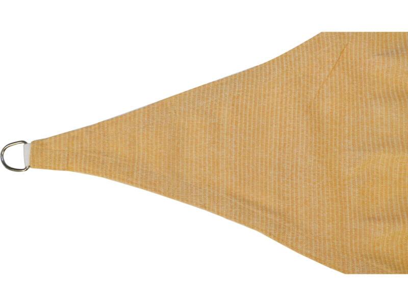 Voile d'ombrage triangulaire 6m² beige