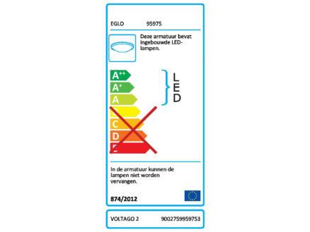 Eglo Voltago 2 LED plafondlamp vierkant 20W dimbaar wit