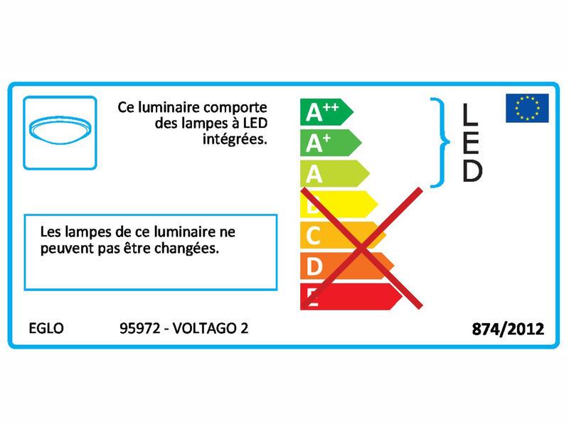 Eglo Voltago 2 plafonnier LED 20W blanc