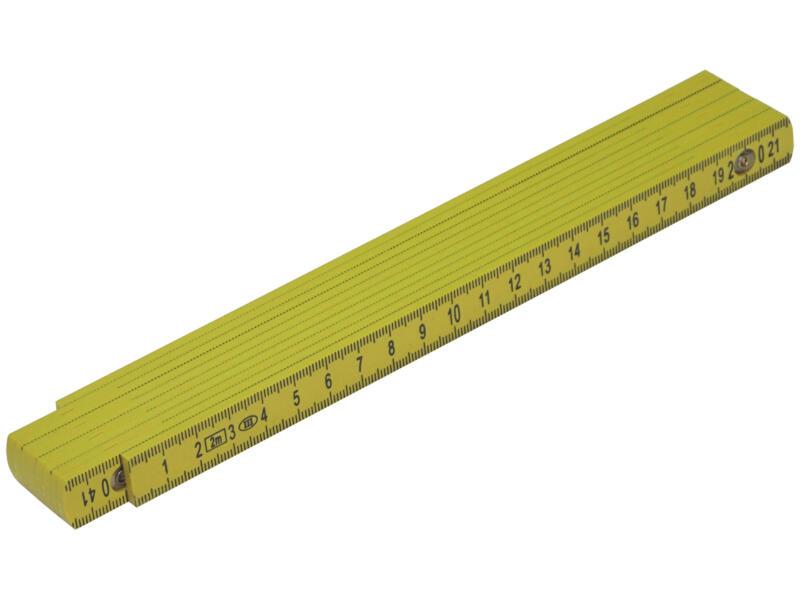 Mack Vouwmeter 2m kunststof geel