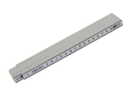 Mack Vouwmeter 2m kunststof wit